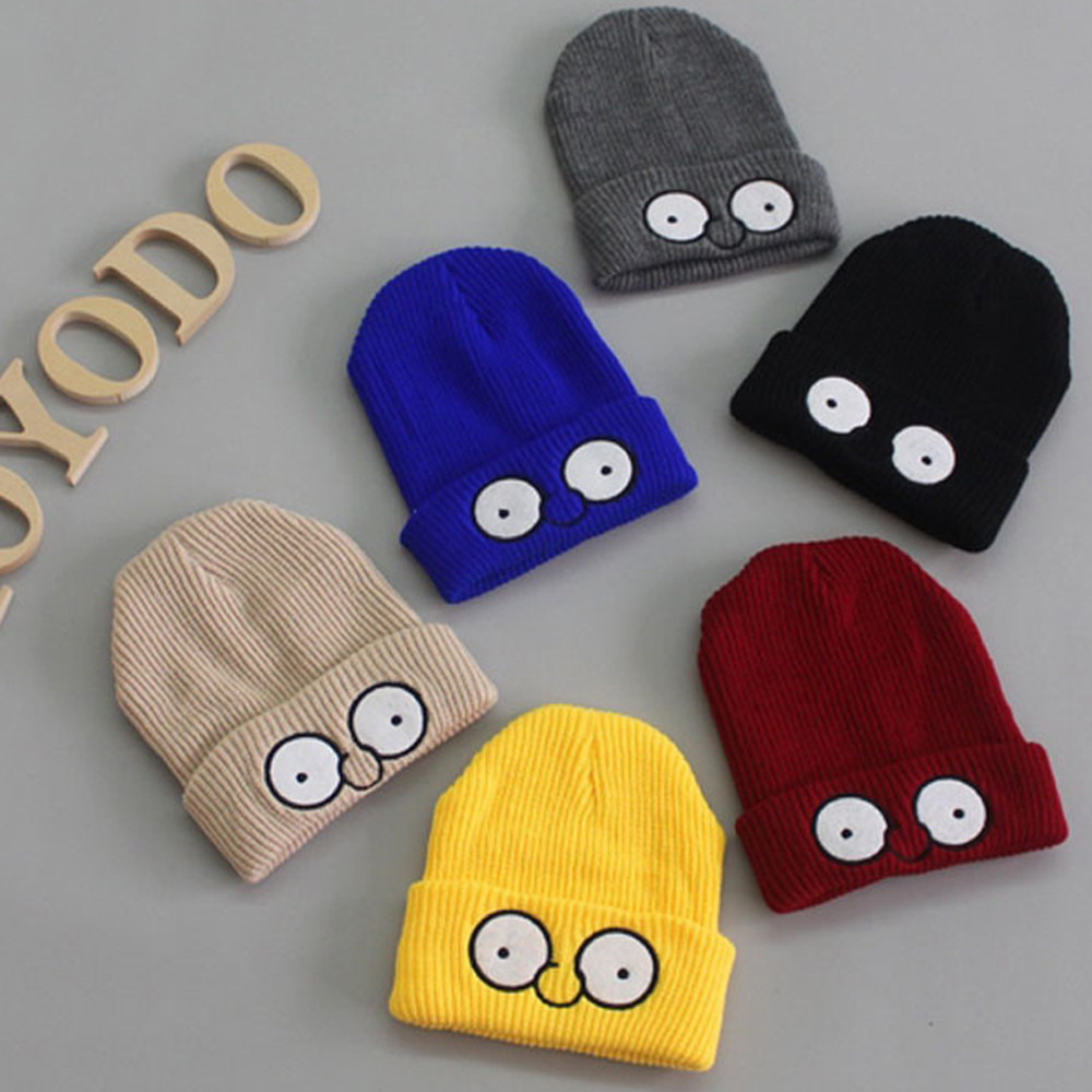 Cute Baby Kids Girl Boy Big eye knit hat Warm Winter Knitted Cap Hat Beanie Newborn Photography Props Accessories for 6M-3T