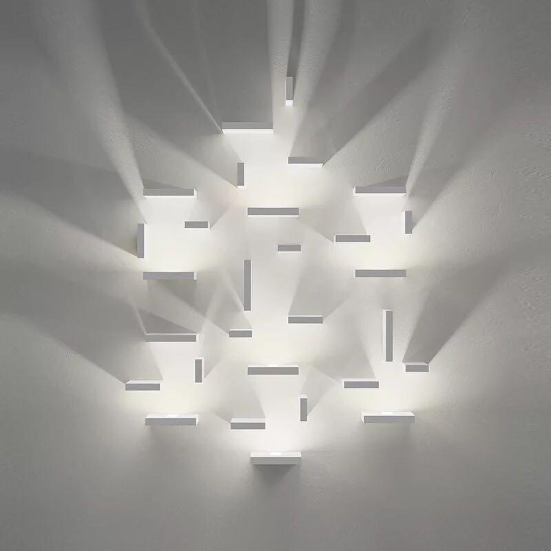 Géométrique Aquare combinaison gratuite lampes mur LED applique murale chambre lumière escalier lampe salon applique murale livraison gratuite