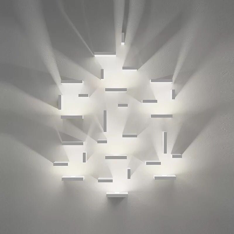 Geometric Aquare Free Combination Led Wall Lamps Aisle Wall light Bedroom Light Stair Lamp Living room Wall Sconce Art Deco