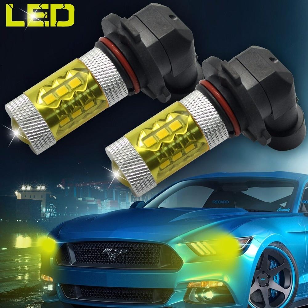 2x H8 H11 9006 HB4 9005 HB3 H10 LED Car Fog Light 60W Samsung 2323 Chip