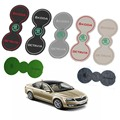 For Skoda Octavia a7 Car Modification Dedicated Gate Slot Pad Storage Box Pad Slip Mat Water Coaster Cup Pieces  Octavia 8pcs