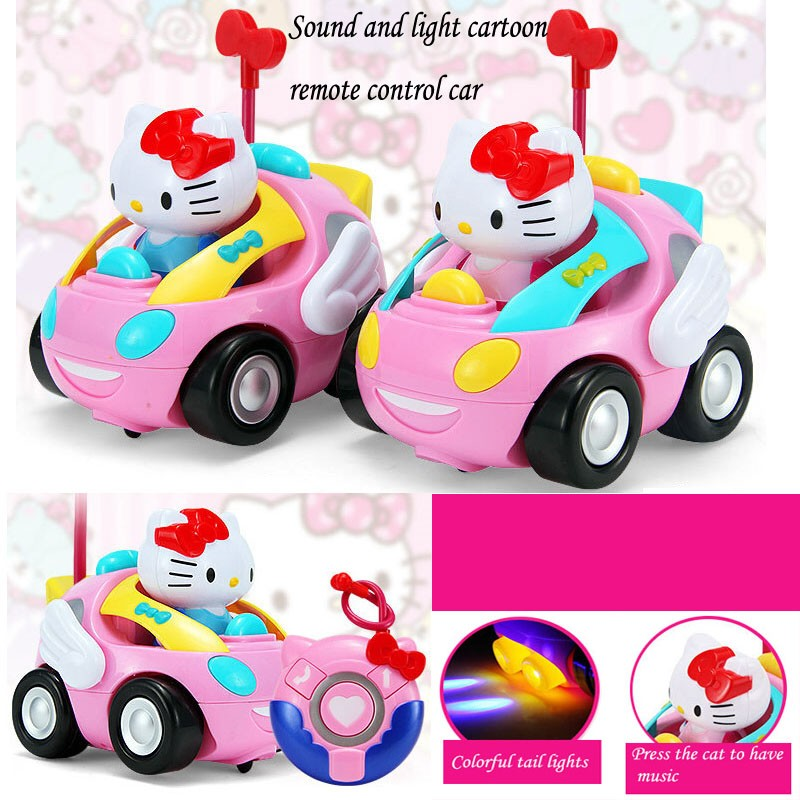 New Lovely cartoon electric remote control car toys with music light Christmas birthday for gift childrens toys