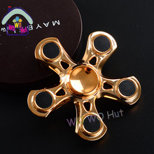 Metal Tri Fidget Hand Spinner Triangle Torqbar Brass Puzzle Finger Toy EDC Focus Fidget Spinner ADHD Austim Educational Toy