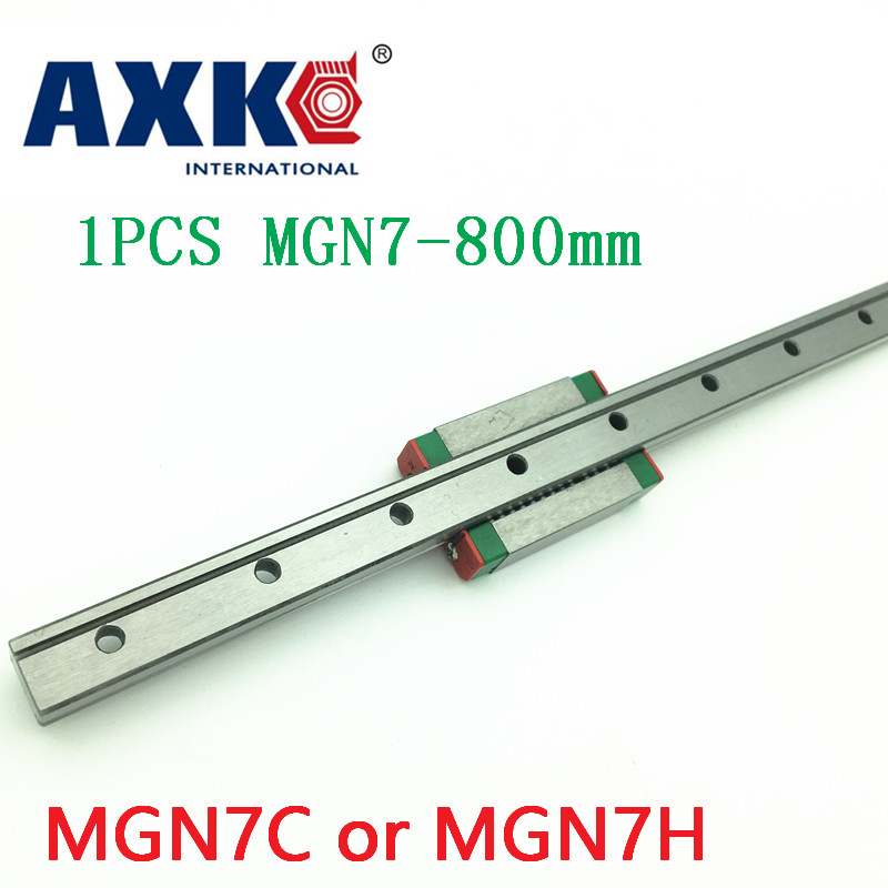 Free shipping for 7mm Linear Guide MGN7 L= 800mm linear rail way + MGN7C or MGN7H Long linear carriage for CNC X Y Z Axis