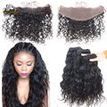 8A Best Brazilian water Wave With Frontal Closure 13x4 Lace Frontal With Bundles Unprocessed Virgin Hair water Wave With Frontal