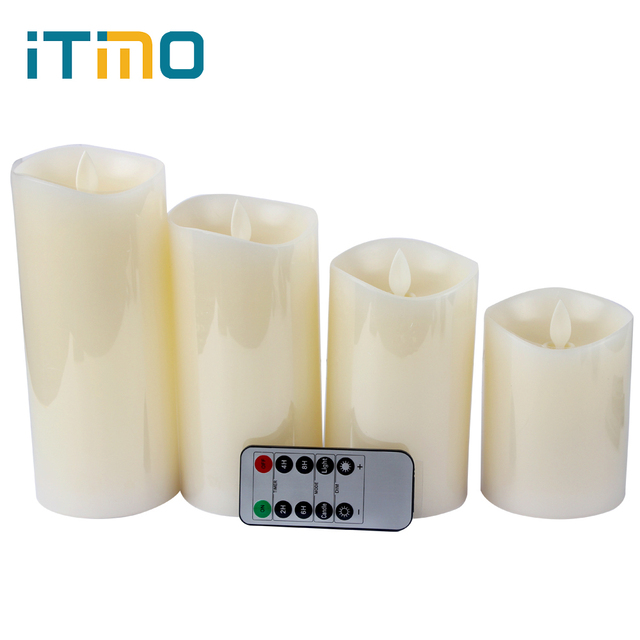 4 Sizes Flameless Light LED Electronic Candle Real Flame-effect Simulation Candle Lamp LED Lighting Novelty Home Decoration