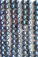 half hole 120 24pcs 4 14mm natural Pearl Gergous Round Ball sapphrie blue white dark black grey gray peach red mixed jewelry b
