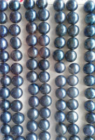 half hole 120 24pcs 4 14mm natural Pearl Gergous Round Ball sapphrie blue white dark black grey gray peach red mixed jewelry b