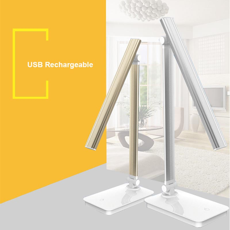 Desk Lamp for Desktop USB Charging Fold Dimmable Rotation LED Table Lamp 5W 2835 Touch Switch Table Lights Eye Care Study Light huan jun shi led dimmable desk lamp usb rechargeable led table lamp atmosphere night light eye care adjustable rgb table light