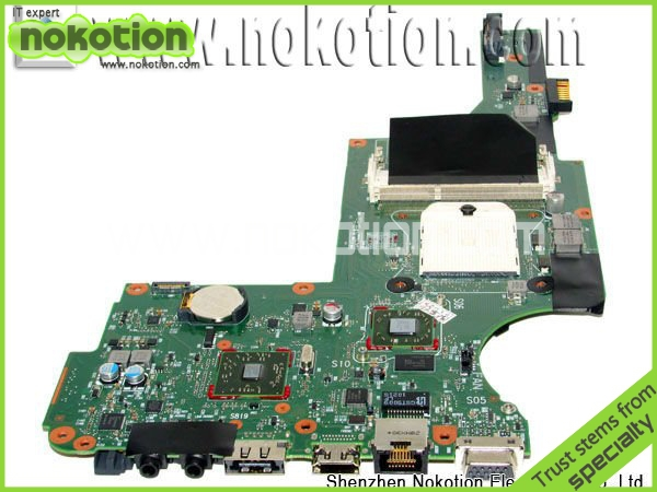 ФОТО Hot Sale !! 598225-001 Laptop motherboard for HP DV5 DDR3 Mianboard Mother boards free shipping