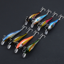 8Pcs/Lot Boutique Topwater Minnow Fishing Baits 9cm/9.7g Sea Artificial Hard Swim Laser Lures Wobblers For