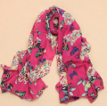 Wholesale Scarf female velvet chiffon silk scarf long design cape butterfly BEACH SCARF