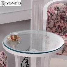 Transparenz PVC Runde Tischdecke Weichglas tischtuch Wasserdicht Ölbeständiges Home Küche Esszimmer Tischset Pad Dia 60-110 cm