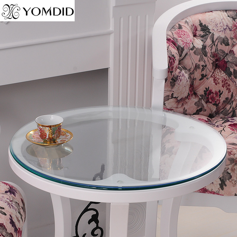 Transparency PVC Round Tablecloth Soft Glass Table cloth Waterproof Oilproof Home Kitchen Dining Room Placemat Pad Dia 60-110cm