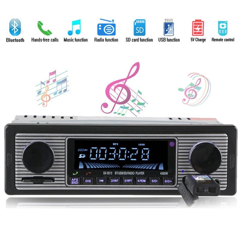 Car font b Radio b font Player Bluetooth Stereo FM transmitter MP3 USB SD AUX Audio