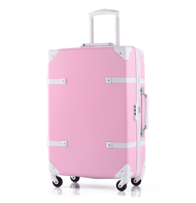Vintage  universal wheels luggage picture box trolley luggage drag boxes suitcase luggage suitcase gossip14 20 24 28sets