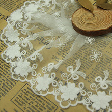 Fadesen Lace Handmade DIY car doll wedding dress accessories European luxury embroidery lace Fabric flower wide 10cm 110cm wide wedding dress lace embroidery diy women clothes materials clothing fabric accessories ivory white church happy hour
