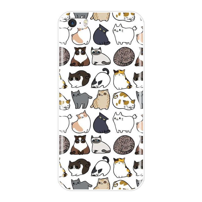 اللوحة لينة TPU الهاتف حقيبة لهاتف أي فون 4S 5 5 S 5C SE حالة سيليكون لطيف يونيكورن الغطاء الخلفي ل فون 4 5 S حالة كوكه Fundas