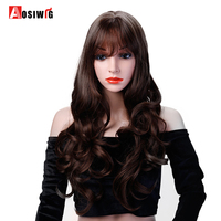 Black Brown 8 Colors Long Wavy Curly Wigs Heat Resistant Synthetic Hair Costume Halloween Party Cosplay