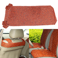 Car Styling African Rosewood Bead Front Seat Massages Cover  Auto Chair Cover Cushion Beaded Seats Covers