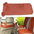 Estilo do carro Jacarandá Africano Bead Frente Tampa Auto Almofada Tampa Da Cadeira Cadeira de Massagens Frisado Assentos Covers