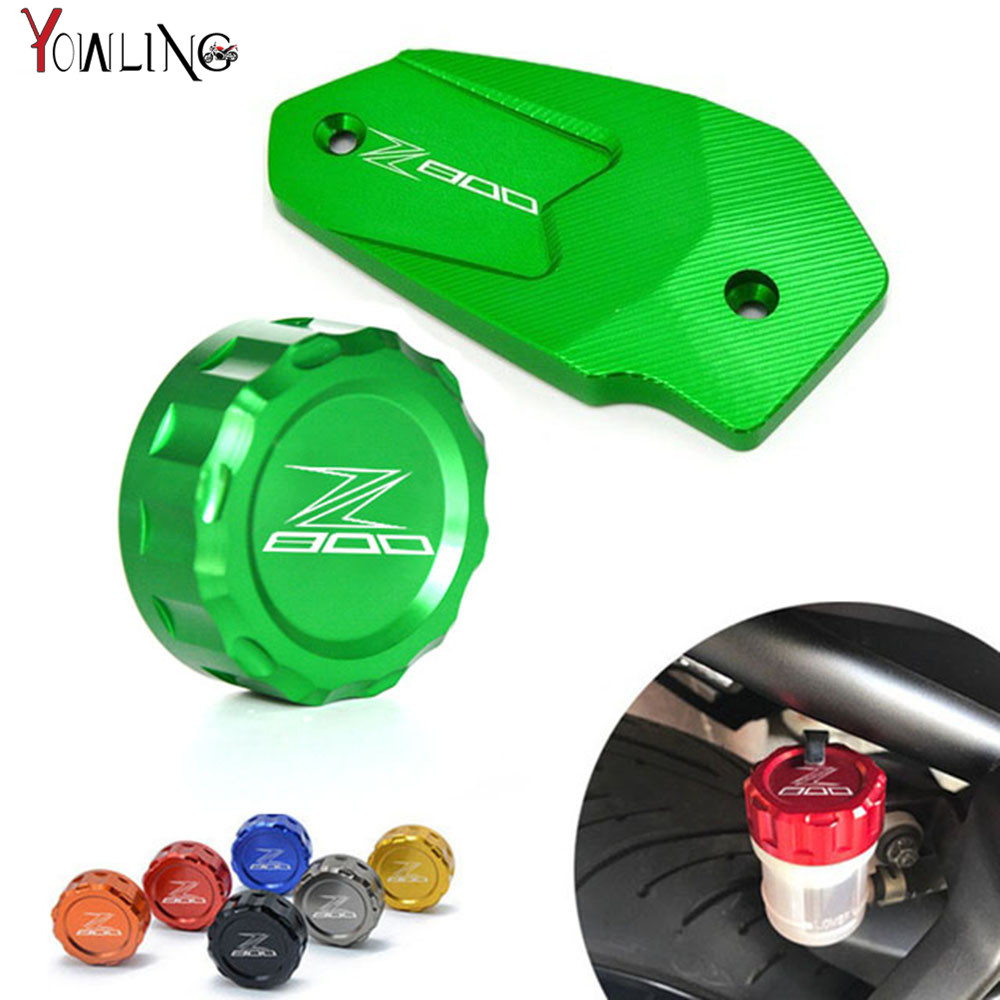 Z800 LOGO motorcycle accessories Rear brake reservoir cover caps Cylinder Reservoir Cover For Kawasaki Z800 2013-2016 ER6N ER6F hot sale motorcycle accessories rear brake reservoir cover gold for kawasaki z250 z750 z800 z1000 z1000sx