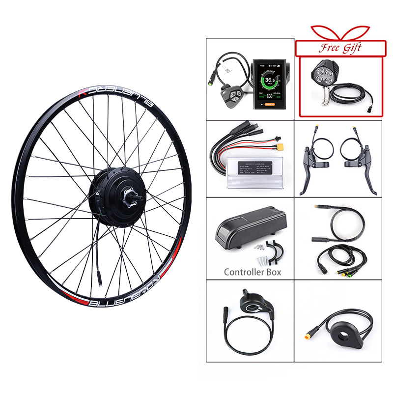 Bafang 48V 500W Front Hub Motor Brushless Gear Bicycle Electric Bike  Conversion Kit for 20 26 27 5 700c inch Wheel Drive Engine