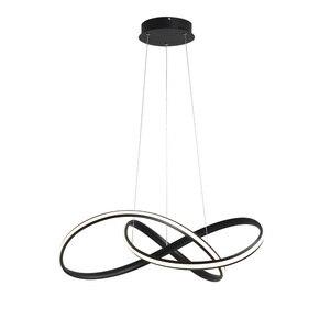 Image 2 - Candelabro led moderno para cocina, comedor, sala de estar, colgante luminaria de suspensión, candelabros de dormitorio blanco y negro, accesorios