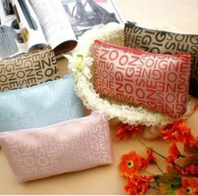 10pcs/lot letter portable cosmetic bag travel wash multi purpose/functions bags free postage
