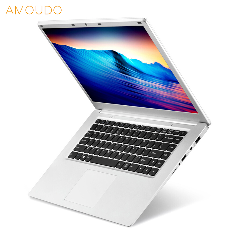 AMOUDO 15.6 polegada 1920X1080 P FHD 6 GB de RAM 500 GB/1 TB HDD Intel Quad Core sistema de janelas 10 Notebook Computador Portátil