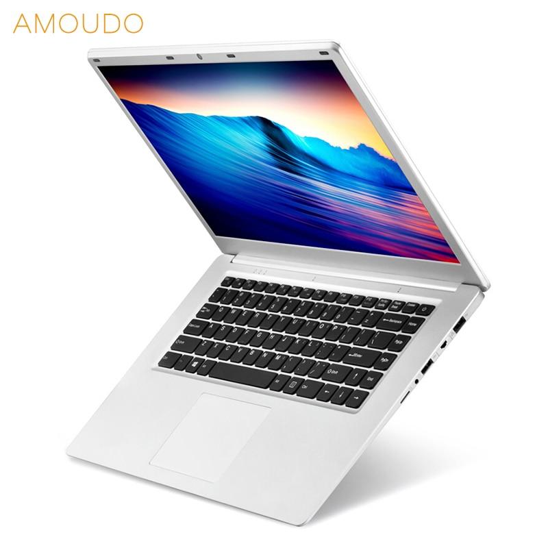 AMOUDO 15.6inch 1920X1080P FHD 6GB RAM 500GB/1TB HDD Intel Quad Core Windows 10 System Notebook Computer Laptop