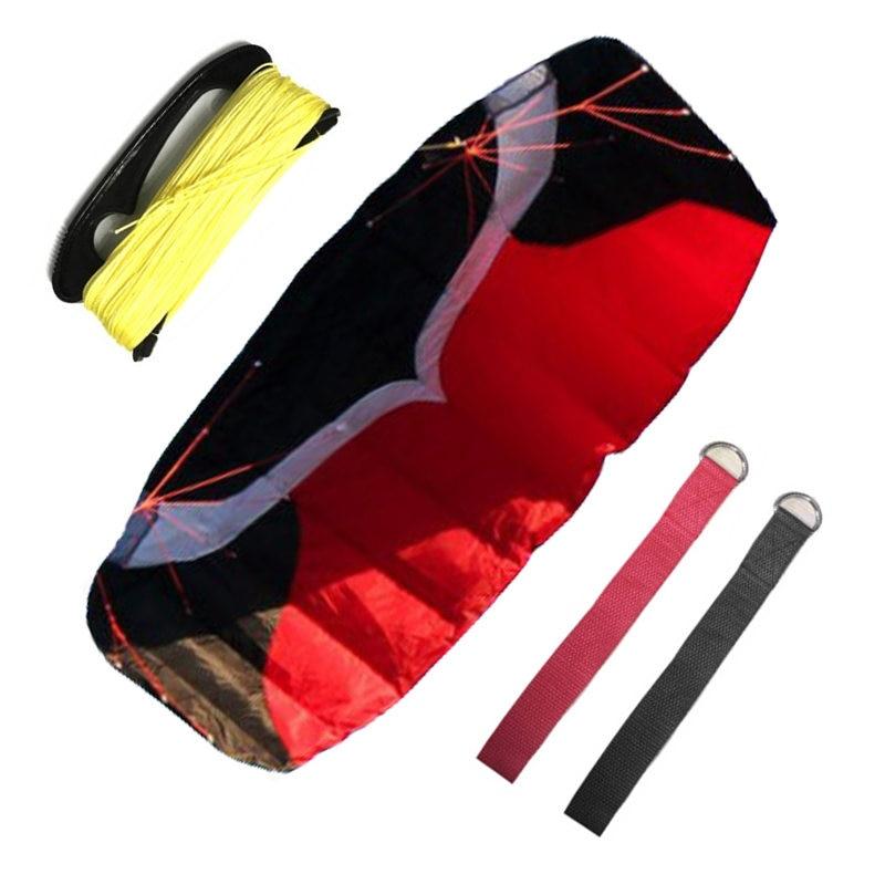 Nouvelle haute qualité 2 m ondulation Nylon double ligne Parafoil Parachute cerfs-volants sport plage avec cerf-volant poignée et ficelle facile à voler