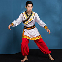 Drum Yangko Dance Costumes For Men Chinese National Dance Costumes China National Clothes Festival Performance Clothing