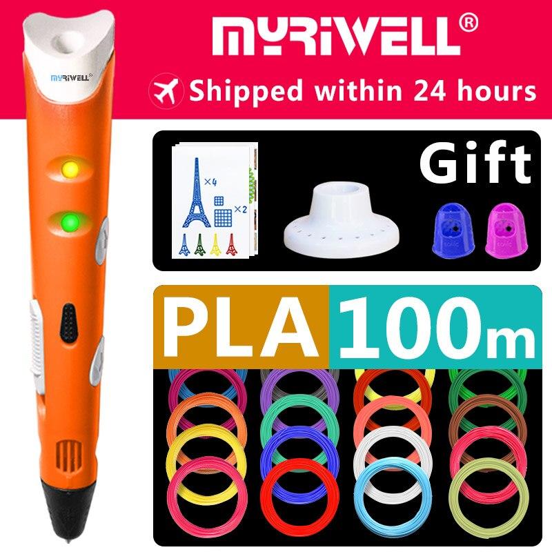 myriwell 3d pen 3d pens,1.75mm ABS/PLA Filament, 3d model,new Year's gift 3d magic pen,Kids Christmas present birthday present брюки pink woman брюки