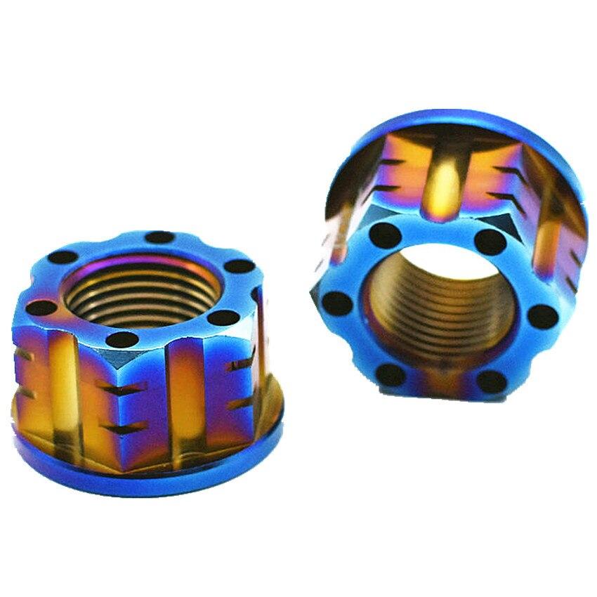 Ti Axle Nut M16 and M18 Titanium Flange Nut Motorcycle Rear Axle Hexagon Titanium Screw Nuts