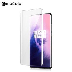 Image 3 - Für Oneplus 7 Pro Screen Protector Mocolo 7T Pro Volle Flüssigkeit Geklebt Gebogene UV Gehärtetem Glas für OnePlus 8 pro Screen Protector