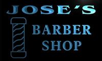 X0028 Tm Jose S Barber Shop Hair Cut Custom Personalized Name Neon Sign Wholesale Dropshipping
