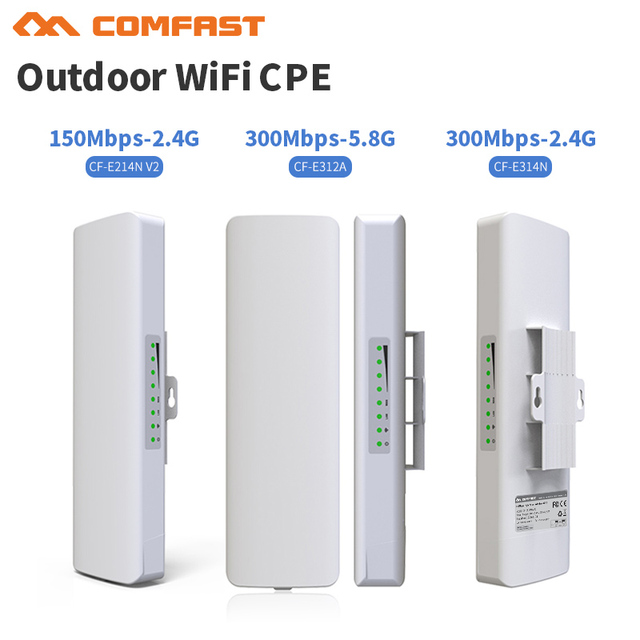 300Mbps RJ45 Long range Outdoor CPE 2*14dbi Wifi Antenna 2.4& 5.8G Wireless Network bridge Ip cam Wi fi Signal Repeater router