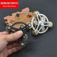 SERMOIDO New Arrival Fidget Spinner Toys Metal Brass Gear Finger Spinner Metal Hand Spinner EDC Spinning