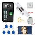 Водонепроницаемый беспроводной дверной звонок HD 720P  Wi-Fi  RFID  Распознавание отпечатков пальцев  видеодомофон  система контроля доступа на ба...