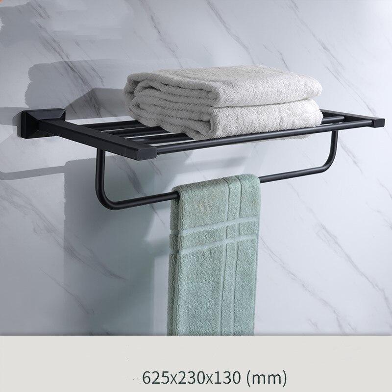 Newest Matte Black brass Bathroom Hardware Accessory bathroom shelf towel rack bar Newest Matte Black brass Bathroom Hardware Accessory bathroom shelf towel rack bar