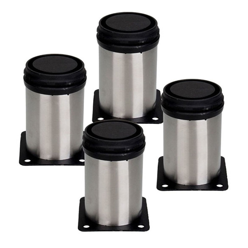 4PCS Adjustable Furniture Leg Stainless Steel Round 100-118mm Cabinet Leg  for Office Home Furniture NG4S
