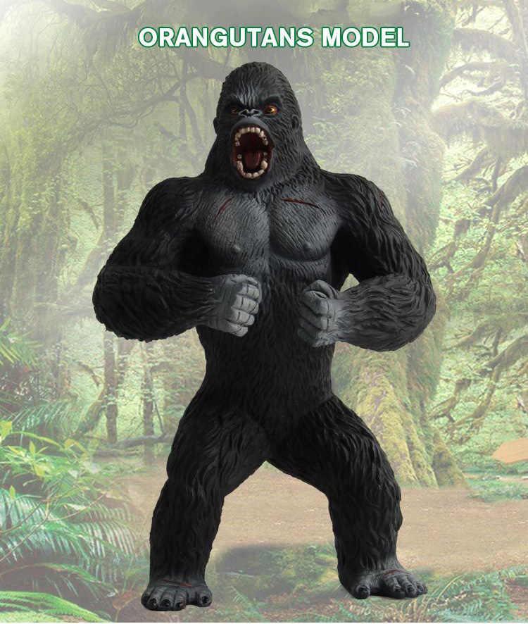 Tamanho grande Vida Selvagem Conjunto de Brinquedo de Plástico Brinquedos do Jogo Do Parque Mundo Gorilla Gorilla Modelo Figuras de Ação Crianças Menino Presente Para Casa decoração