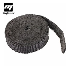 4 5m x 2 5cm x 2mm Car Motorcycle Exhaust Heat Pipe Header Wrap Manifold Fiberglass