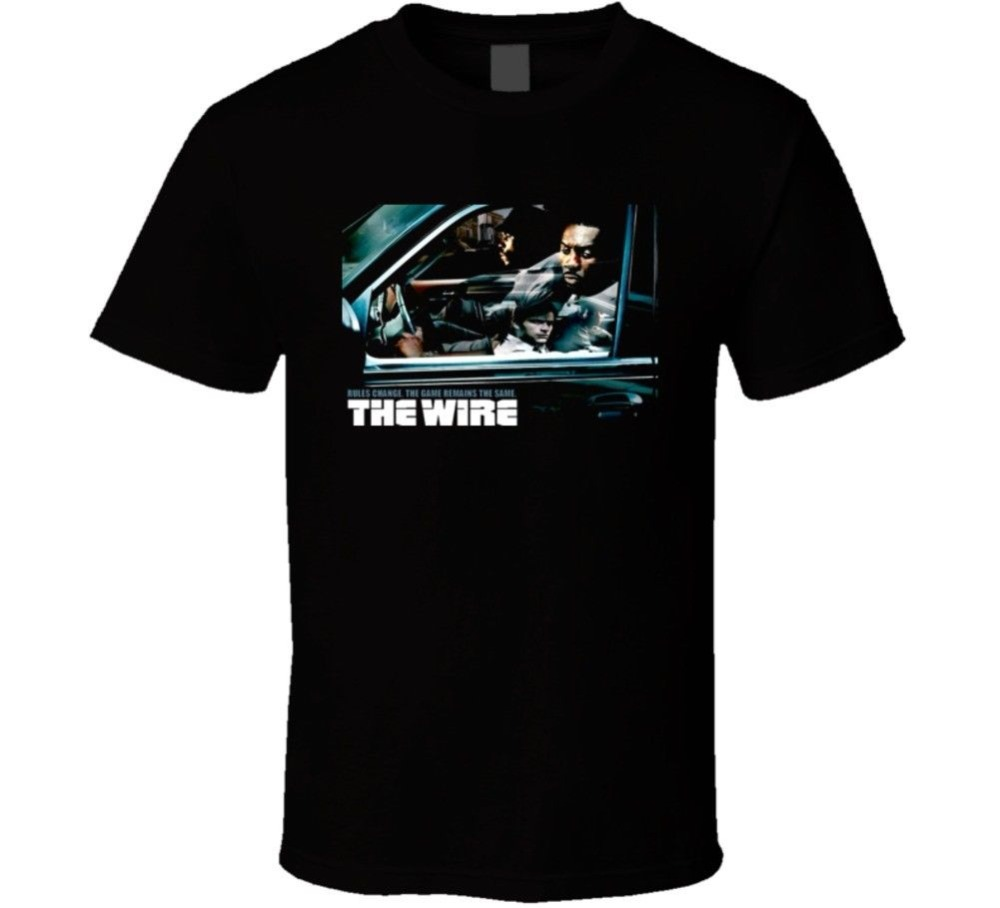 2018 New Fashion Brand Clothing Design Tee Shirt The Wire Hbo Tv T Shirt Funny Printing T Shirts Men Short Sleeve T-shirts ...