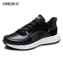 купить ONEMIX Men Running Shoes Outdoor Sports Sneakers DMX Men Walking Jogging Sneakers in Fitness Trekking Shoes in black по цене 3247.11 рублей