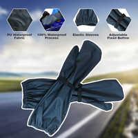 QIAN Impermeable para mujer/hombre 100% guantes de lluvia largos impermeables para ciclismo ropa de lluvia accesorios de Poncho de equipo de lluvia