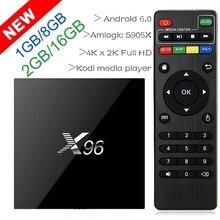 X96 1GB/2GB 2GB/16GB Amlogic S905X Quad Core Android 6.0 TV Box Wifi HDMI 2.0A 4K*2K Kodi Marshmallow Media Player Set top box