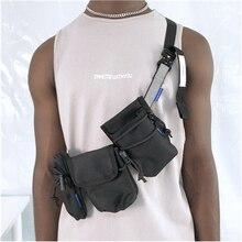 Модная уличная Функциональная сумка в стиле хип-хоп, мужская сумка через плечо, стильная Съемная поясная сумка в стиле хип-хоп, Мужская тактическая сумка на плечо