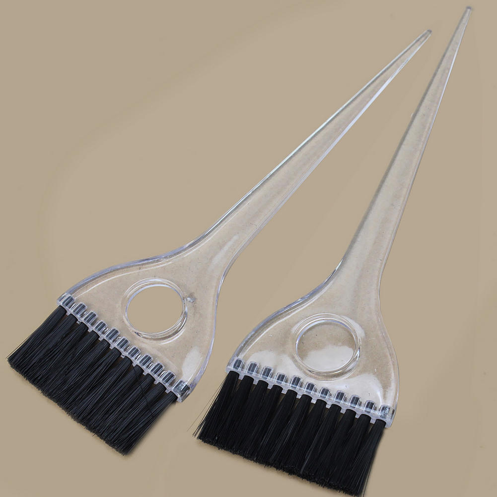 Hair Dying Tools 2pcs Plastic Hair Coloring Comb Soft Brush Hairdressing Baking Oil Comb Professional Tint Coloring Tool